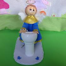 Topo De Bolo Anjinho Para Batizado Em Eva