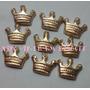 100 Coroas Douradas 1,5cm Biscuit Aplique Reinado Realeza