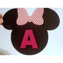 Letra Para Varal Letras Minie Mickey Bandeirolas