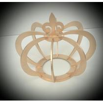 Coroa 3d Mdf Decorada Dourado