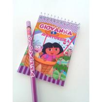 Bloquinhos Personalizados Com Lápis - Dora Aventureira - 40