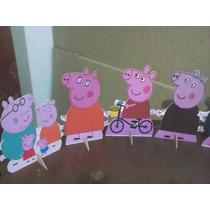 Peppa Pig Cenario De Mesa, 10 Display,festa Infantil Mdf