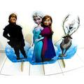 10 Display Frozen Chão Totem Painel Cenário Anna Elsa 80cm**