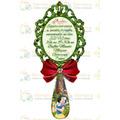 Convite Branca De Neve Espelho Em Pvc Com Imã - Kit 20 Uni