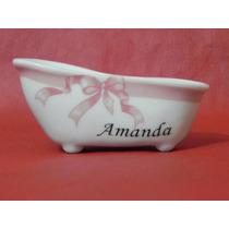 Banheirinha Porcelana Lembranças Menina Chá Bebe Maternidade