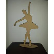 Bailarina Mdf Cru 50cm Lembrancinha Festa 15 Anos