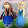 Kit Princesas Elsa E Ana Frozen Em Eva 3d