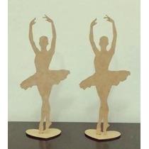 Kit 10 Bailarinas 25cm Lembrança 15anos Decoração Festa Mdf