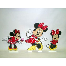 Minnie Display De Mesa,festa Infantil,mdf 10 Peças