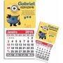 Imã Foto Calendario Empresa,aniversário,natal 5x4cm, 25 Unid