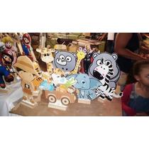 Display Cenário De Mesa, Festa Infantil Mdf 10 Peças