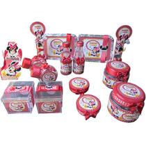 Kit Lembrancinhas Personalizadas 120 Itens. Minnie Vermelha.