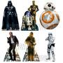 6 Star Wars Displays De Mesa 22cm Decoração De Festa Cenário