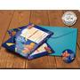 25 Convites Procurando Nemo+envelope+etiqueta 15x10