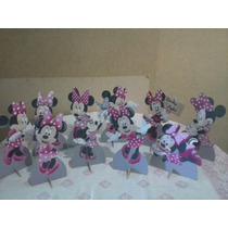 Minnie Rosa De Mesa,display,festa Infantil,mdf