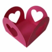 Forminhas Para Doces Finos Coração Lote Com 300 Unidades