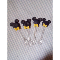 Colherzinha Biscuit Mickey Kit Com 100