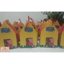 Lembrança Casinha Peppa Pig! Caixa No Formato De Casa Peppa!