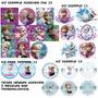 Adesivo Personalizado Topper Tag Convit Cha Bis Frozen