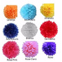 Balão Pompom Bola Flores Papel Seda Festas Decoração 25cm