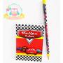 20 Bloquinhos Personalizados + Lápis - Festa Carros Disney
