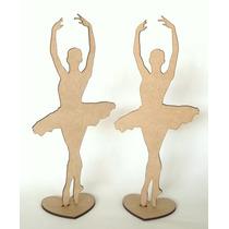 100 Bailarinas Mdf 25cm Decoração Lembrancinha Festa 15 Anos