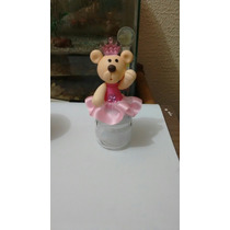 Ursinha Princesa Em Biscuit