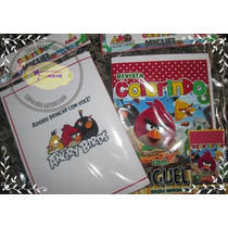 Kit Colorir Angry Birds Com Giz De Cera ( Artmovie)
