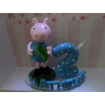 Peppa Pig, Mickey Topo De Bolo Biscuit Infantil, Aniversario