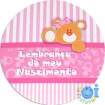 20 Adesivo Lembrancinha Nascimento Chá De Bebê Menina
