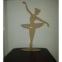 Bailarina Vazada 50cm Mdf Cru Lembrancinha Festa 15 Anos