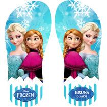 Chinelo Personalizado Frozen - Embalagem Gratis - Qualidade
