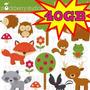 Kit Scrapbook Digital Animais Da Selva Cliparts + 3400! 40gb