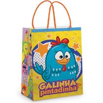 Sacola Galinha Pintadinha C/ 30 Uni Qualidade Cromu 049697