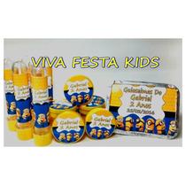 Kit Festa Personalizada Minions, Frozen E Etc C/ 90 Unidades
