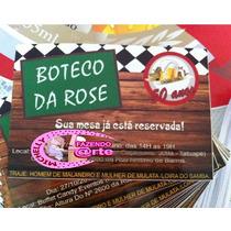 Convite Festa Boteco 10x15 - Envelope Grátis