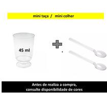 300 Mini Colher +300 Mini Taça 45ml De Acrilico P/ Chocolate