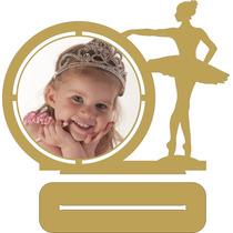 Porta Retrato Bailarina - Mdf Cru - Kit Com 30 Peças