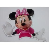 50 Bustos Para Tubete Minie Rosa Mickey Mouse 7,5cm