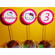100 Toppers Hello Kitty Gatinha Personalizados
