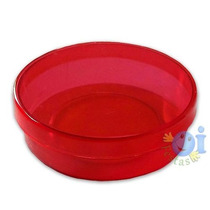 Lembrancinha Latinha Acrílica Transparente 5x2 Vermelha
