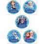 Toppers Adesivos Personalizados Tema Frozen 100 Unidades 3cm