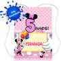 20 Mochilinhas Sacolinhas Personalizadas Minnie Mickey