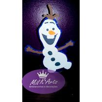 10 Enfeites De Mesa Lembrancinha Olaf Frozen Em Eva