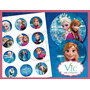 Frozen - 120 Toppers, Totens Ou Tag Com Palito P/ Doces