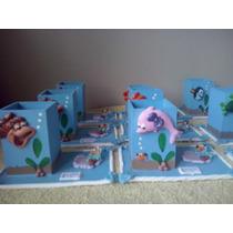 5 Lembrancinhas Porta Lápis Tema Fundo Do Mar Em Biscuit