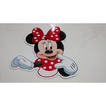 30 Bustos Para Tubete Minie Mickey Mouse 10cm