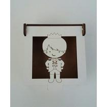 Lembrancinha Caixinha Mdf Branco Pequeno Príncipe Kit 50un.