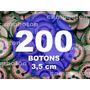 Boton Botton Personalizado 3,5 Cm 200 Unidades Button Botom
