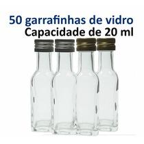 50 Garrafinhas De Vidro 20 Ml Lembrancinha